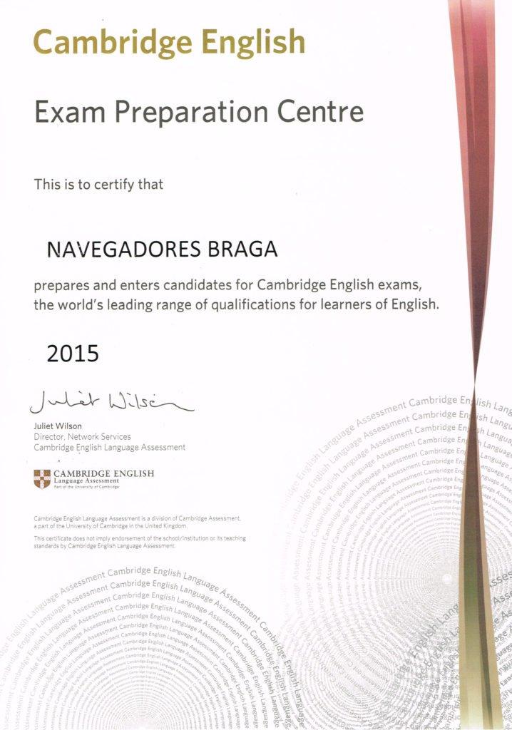 Certificado Cambridge